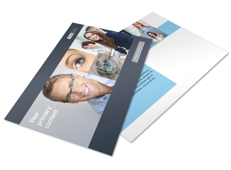 Vision care Postcard Template