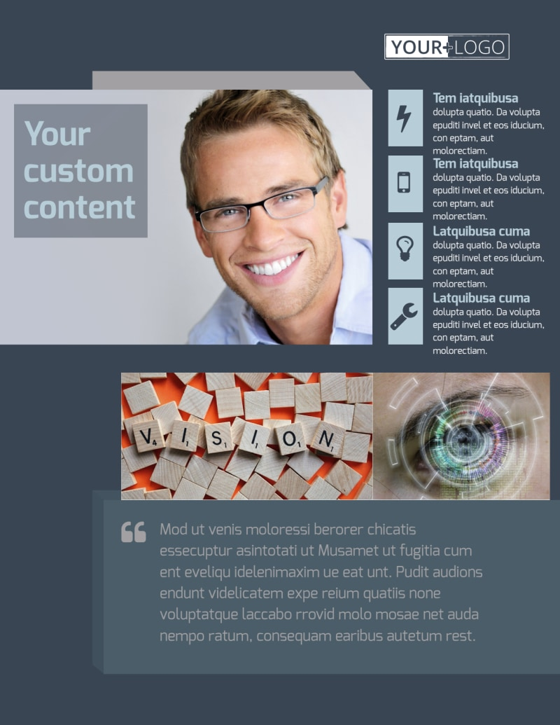 Vision care Flyer Template Preview 2
