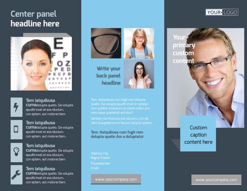 Vision care Brochure Template Preview 2