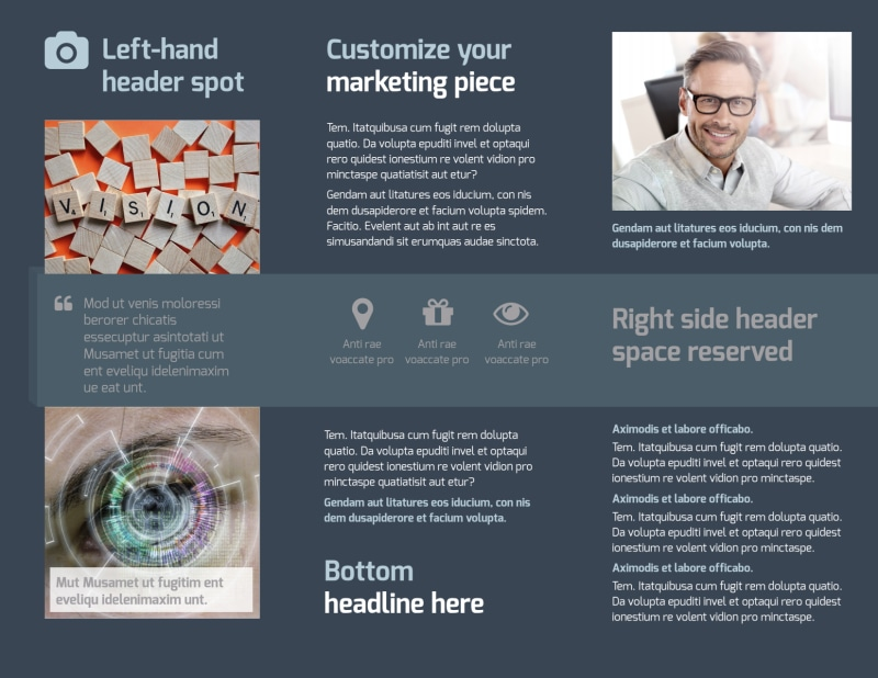 Vision care Brochure Template Preview 3
