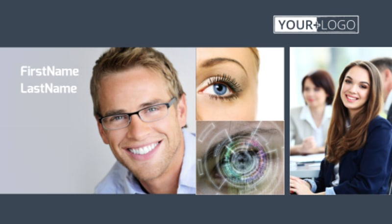 Vision care Business Card Template Preview 2