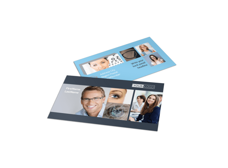 Vision care Business Card Template Preview 1
