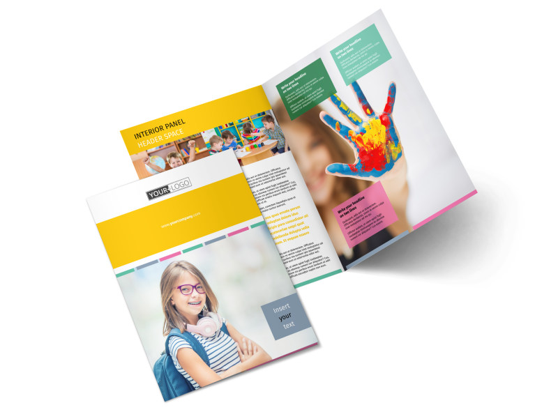 Child Education Bi-Fold Brochure Template 2
