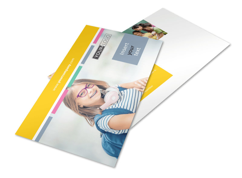 Child Education Postcard Template 2