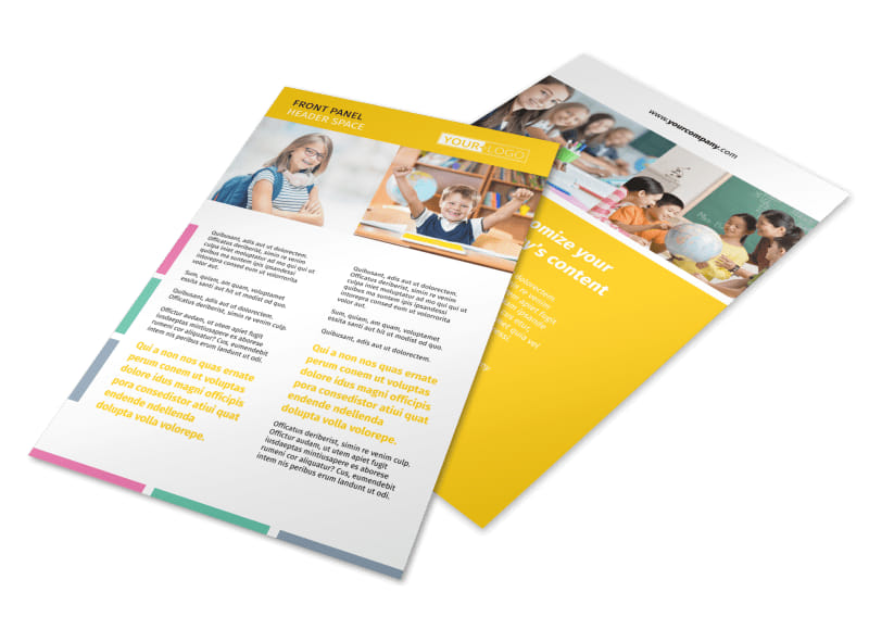 Child Education Flyer Template 3