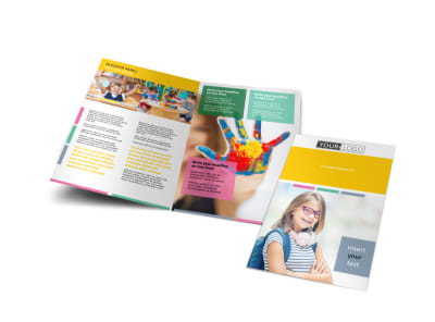 Child Education Bi-Fold Brochure Template
