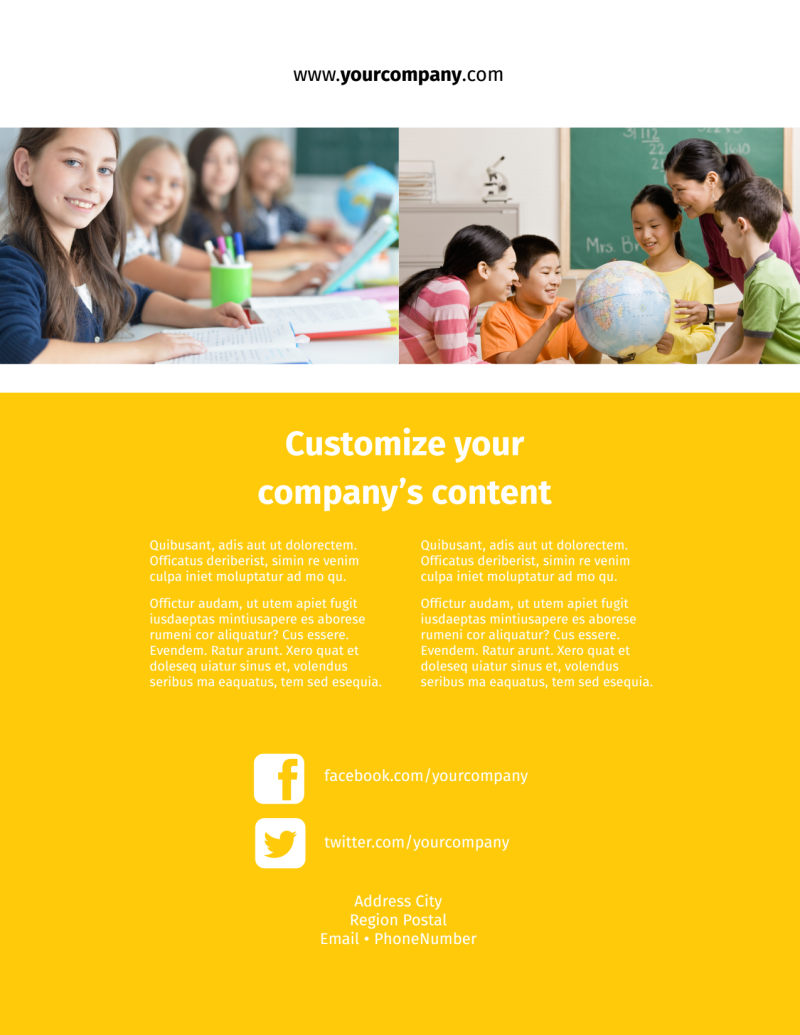 Child Education Flyer Template Preview 3