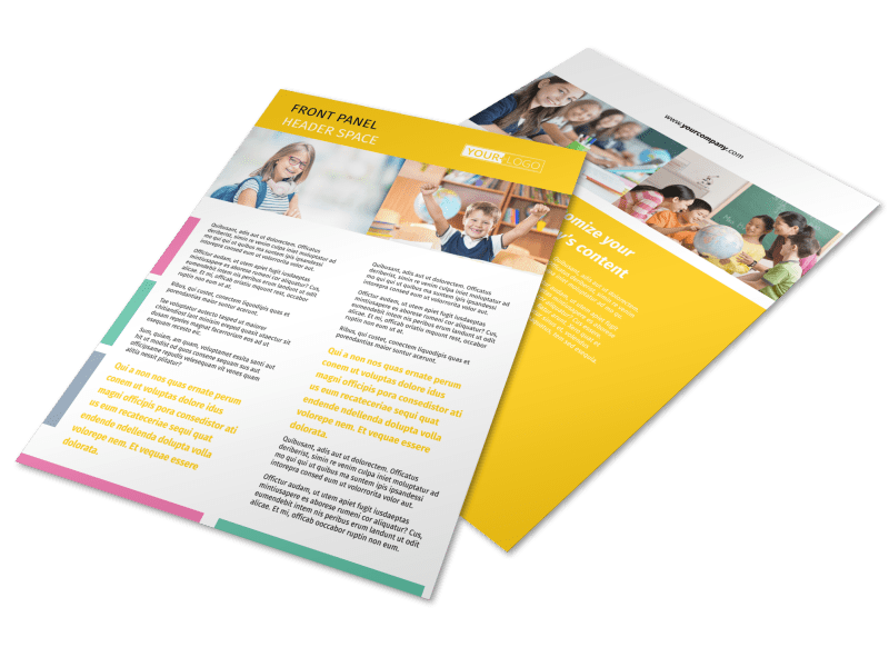 Child Education Flyer Template Preview 1