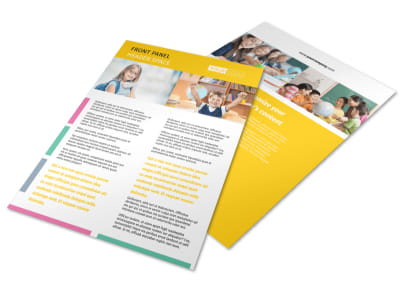 Child Education Flyer Template