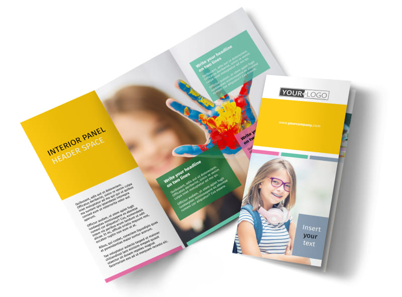 Child Education Brochure Template Preview 4