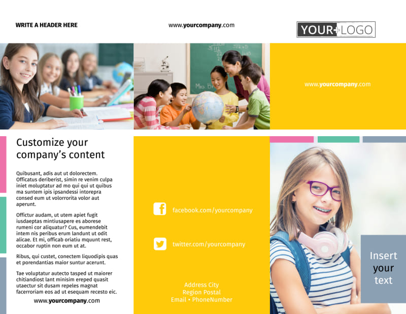 Child Education Brochure Template Preview 2