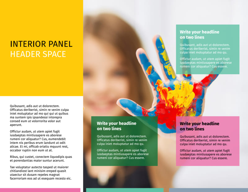 Child Education Brochure Template Preview 3