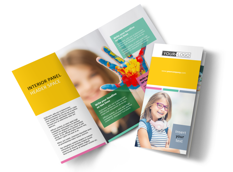 Child Education Brochure Template Preview 1