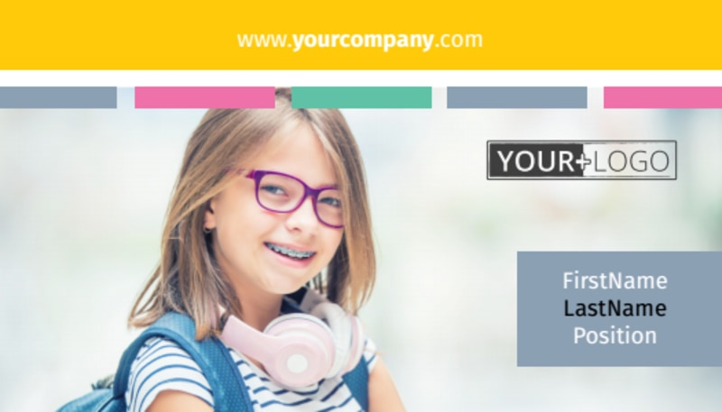Child Education Business Card Template Preview 2
