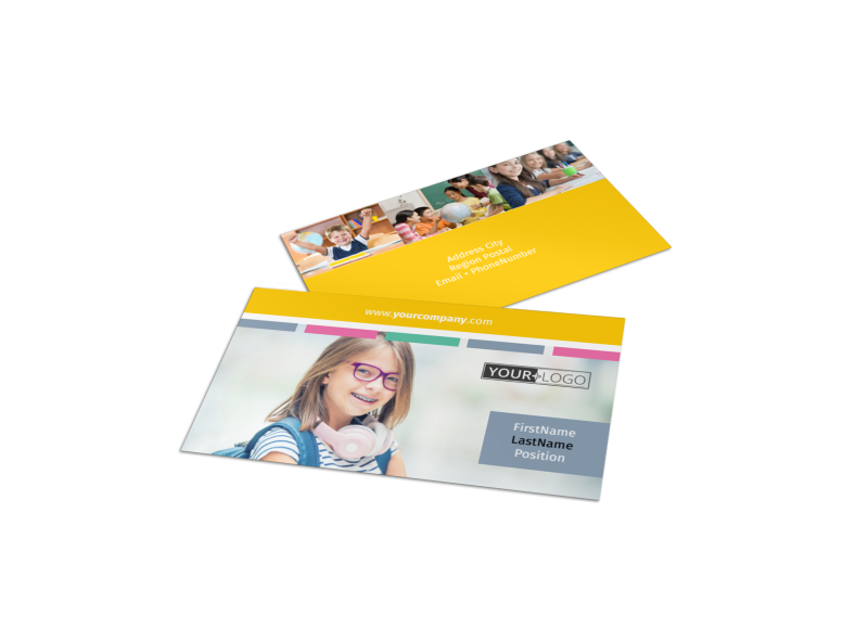 Child Education Business Card Template Preview 1
