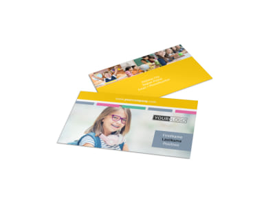 Child Education Business Card Template