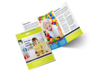 Affordable Daycare Bi-Fold Brochure Template 2