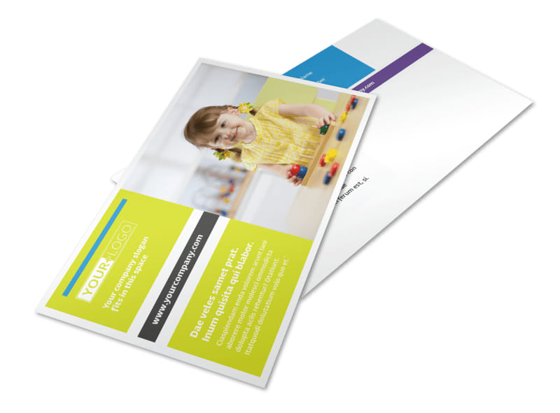 Affordable Daycare Postcard Template 2