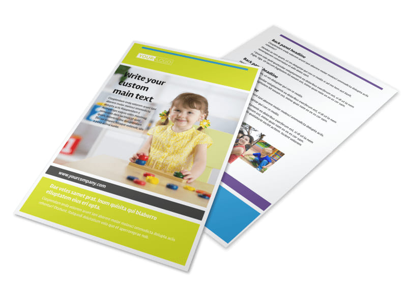 Affordable Daycare Flyer Template 3