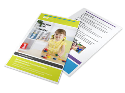 Affordable Daycare Flyer Template 3 preview