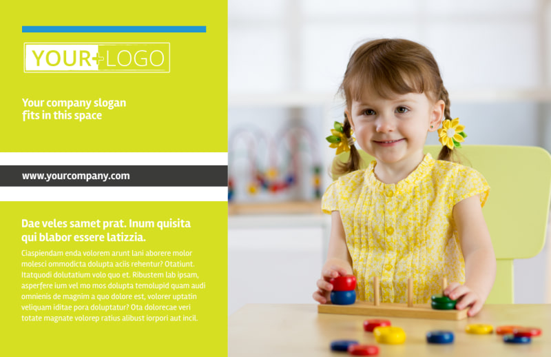 Affordable Daycare Postcard Template Preview 2