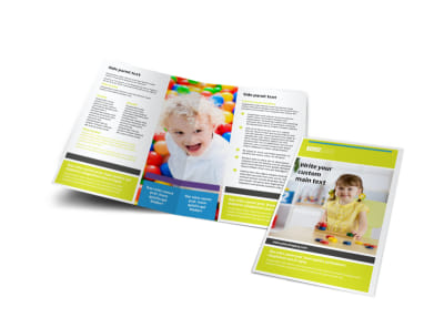 Affordable Daycare Bi-Fold Brochure Template preview