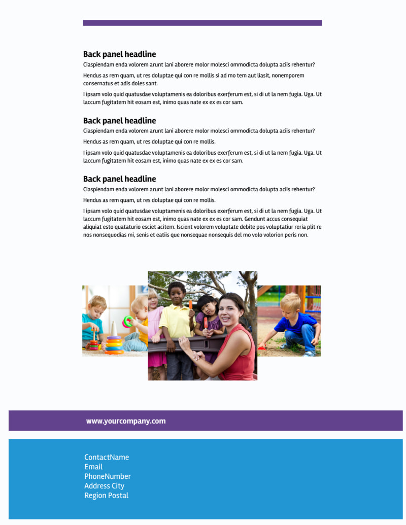 Affordable Daycare Flyer Template Preview 3