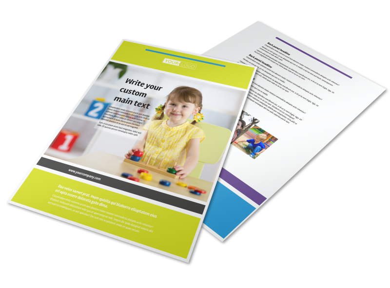 Affordable Daycare Flyer Template Preview 1