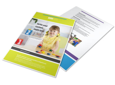 Affordable Daycare Flyer Template