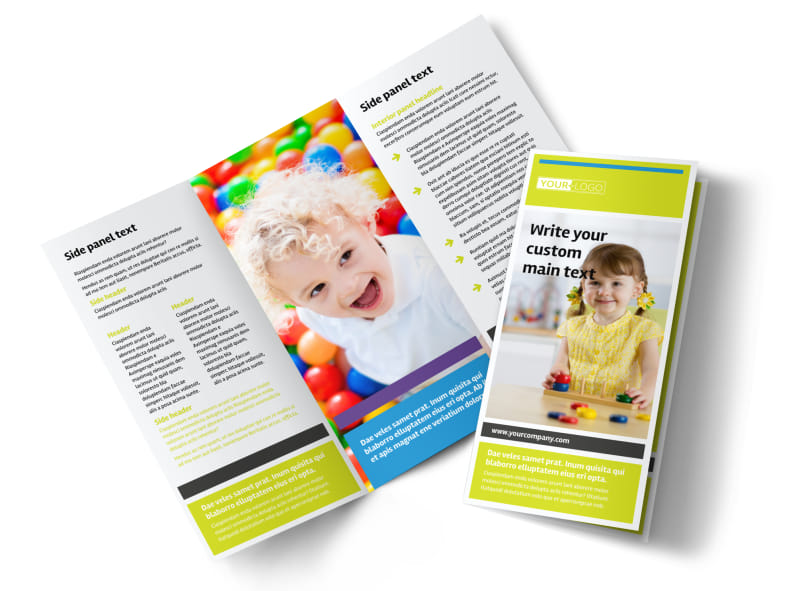 Affordable Daycare Tri-Fold Brochure Template