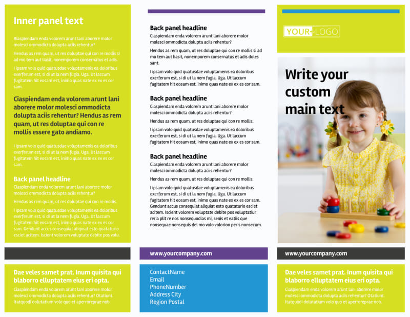 Affordable Daycare Brochure Template Preview 2