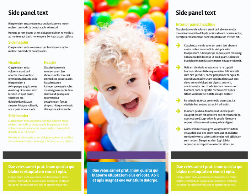 Affordable Daycare Brochure Template Preview 3