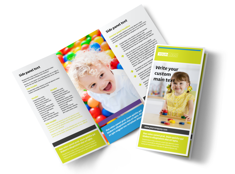 Affordable Daycare Brochure Template Preview 1