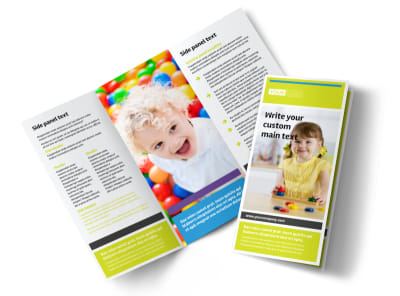Affordable Daycare Tri-Fold Brochure Template preview