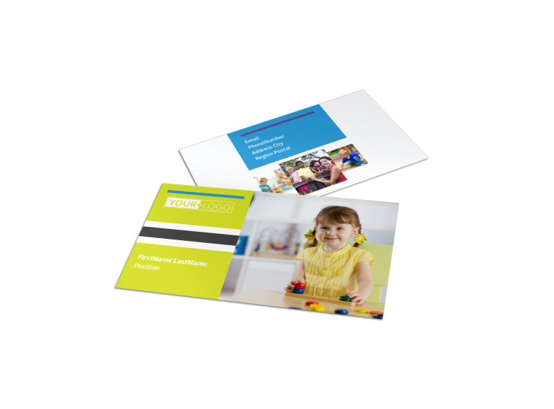 Affordable Daycare Business Card Template Preview 1