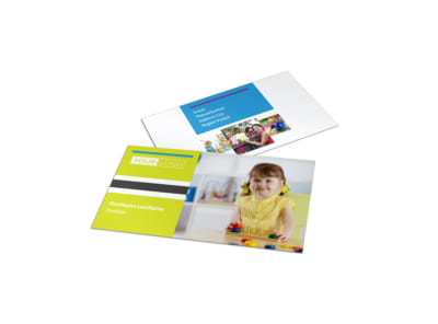 Affordable Daycare Business Card Template preview