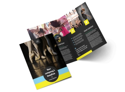Dance School Bi-Fold Brochure Template 2