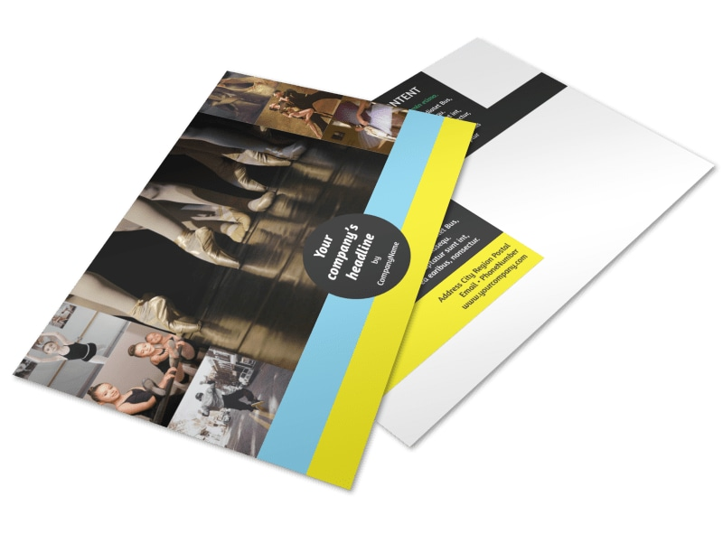 Dance School Postcard Template 2