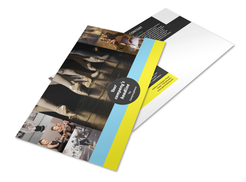 Dance School Postcard Template Preview 1