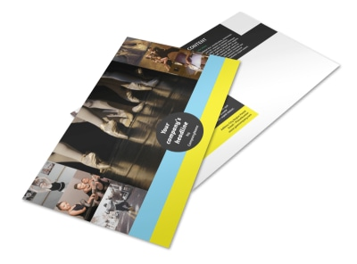 Dance School Postcard Template preview