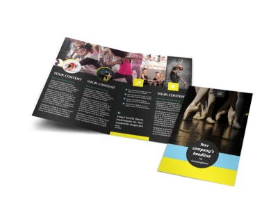 Dance School Bi-Fold Brochure Template