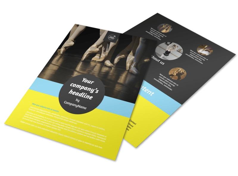Dance School Flyer Template