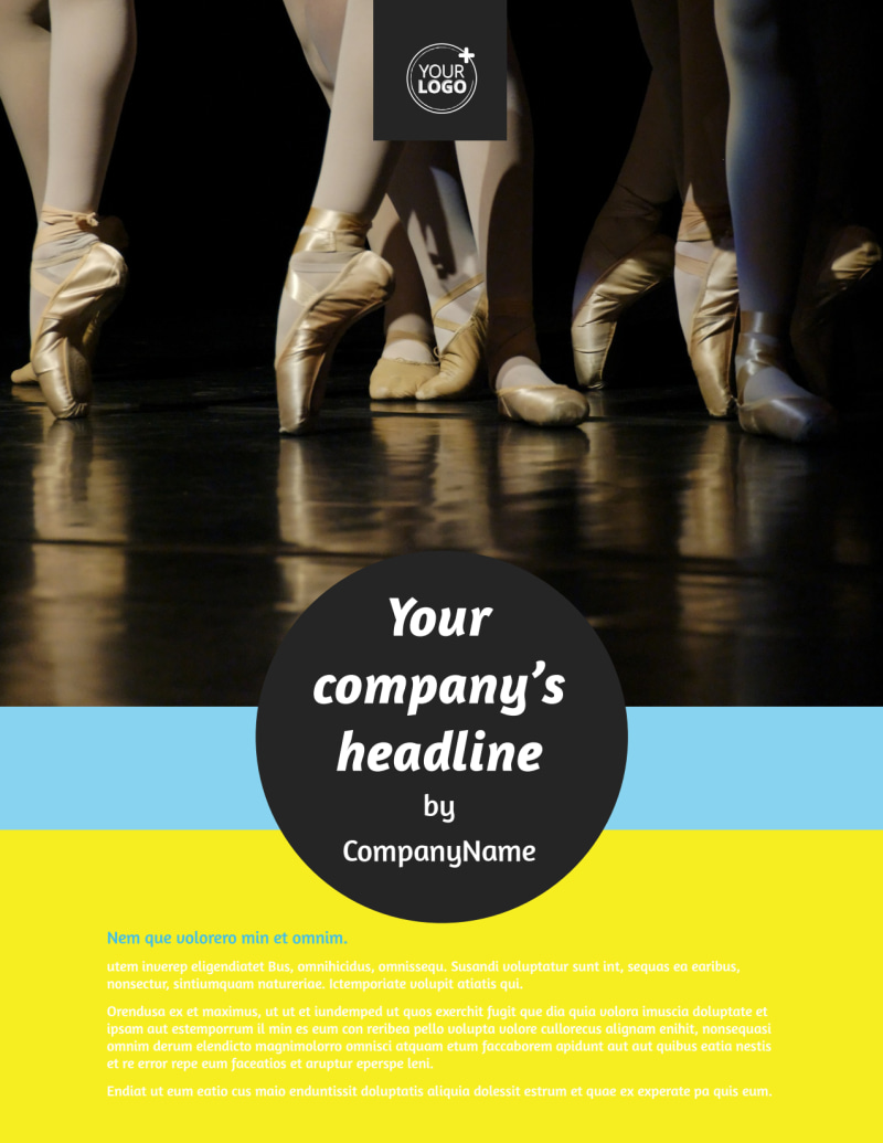 Dance School Flyer Template Preview 2