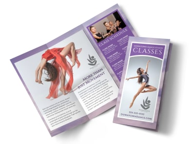 Dance School Tri-Fold Brochure Template preview
