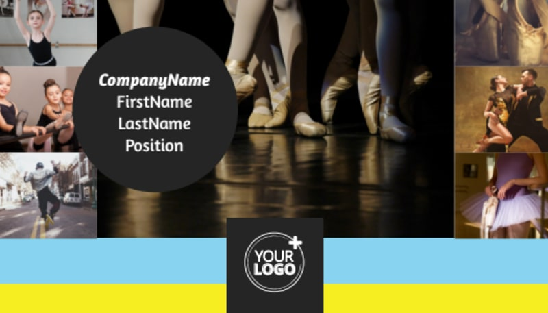 Dance School Business Card Template Preview 2