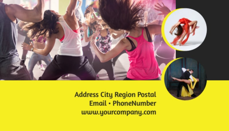Dance School Business Card Template Preview 3