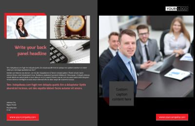 Accounting & Bookkeeping Firm Brochure Template Preview 1
