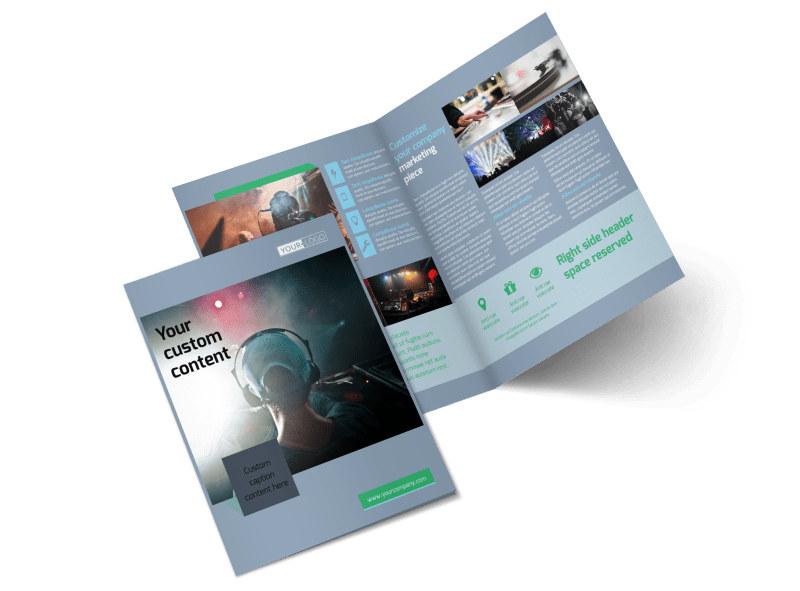 DJ Service Bi-Fold Brochure Template 2