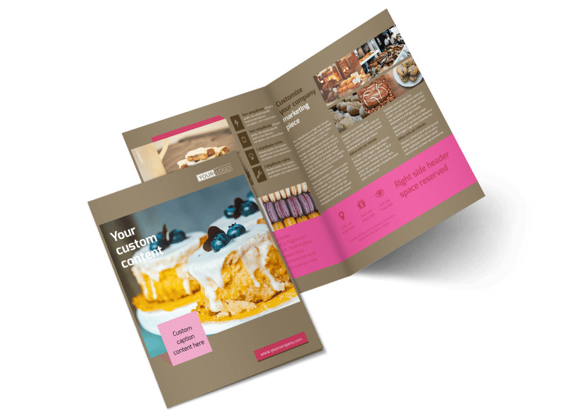 Pastry Catering Bi-Fold Brochure Template 2