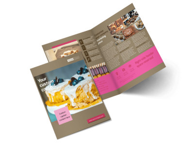 Pastry Catering Bi-Fold Brochure Template 2 preview